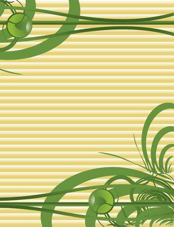Green abstract  on a tan background  版權商用圖片