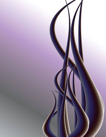 Purple tendril on background with copy space Imagens