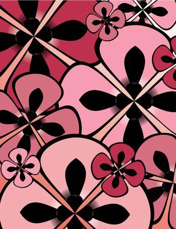 Pink and black flower filling background 版權商用圖片 - 4297367