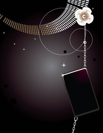 glam: Glam abstract design on a dark background