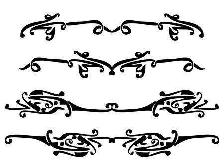 白い背景で隔離の抽象的な設計要素