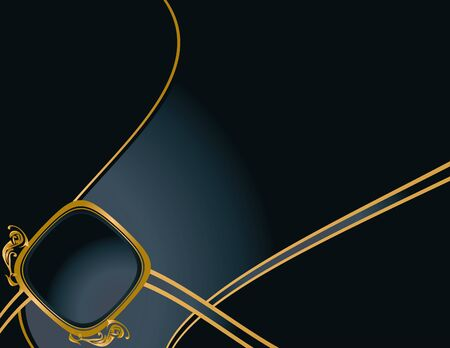 ゴールドのデザインやコピー スペースを持つエレガントな青色の背景色 写真素材