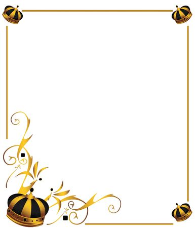 Gold crown on frame isolated on a white background