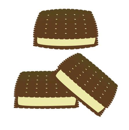 Ice cream sandwiches isolated on white Stock Photo