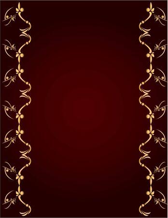 コピーのためのスペースとブルゴーニュの背景の金の抽象的なデザイン 写真素材