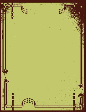Brown distressed piepe frame background
