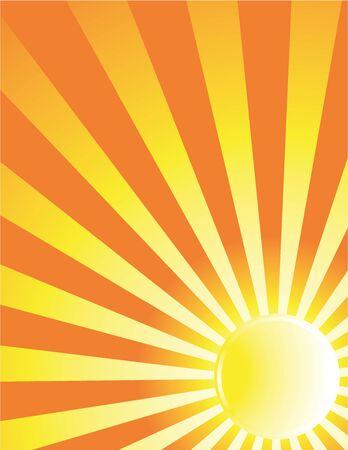 Yellow and orange sun background Stock Photo