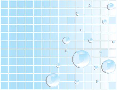 Blauwe tegel achtergrond met reflecterende water drops