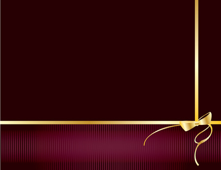Fondo púrpura con detalles de oro y copyspace Foto de archivo - 6296583