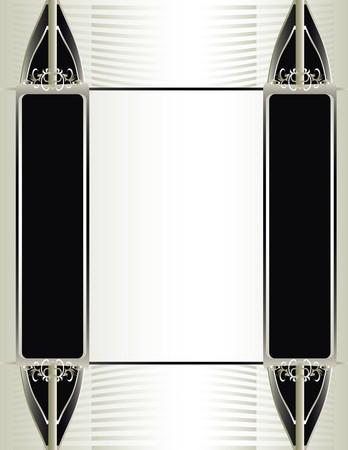 Uit witte, zwarte en zilveren achtergrond Stock Illustratie