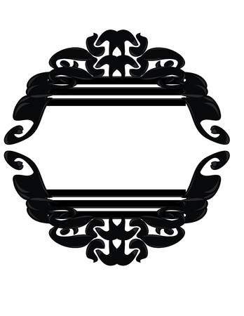 Black, gray, and white frame design element Çizim