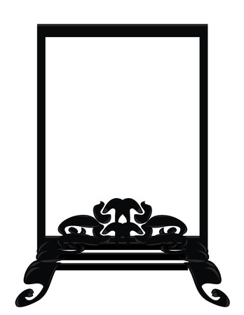 Black, gray, and white frame design element Illustration