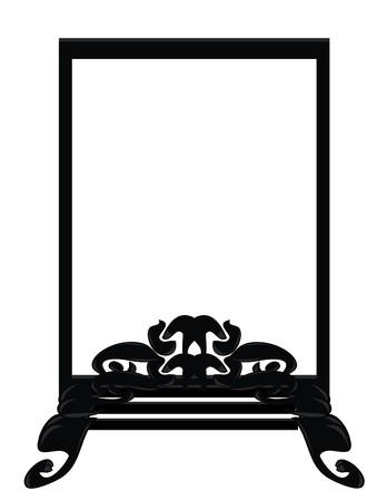 white: Black, gray, and white frame design element Illustration