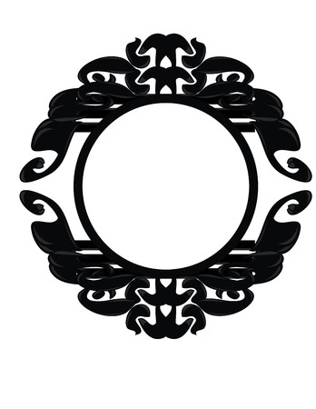 Black, gray, and white frame design element Illustration