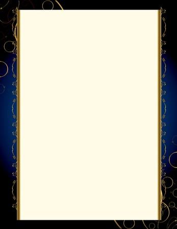 A blue background with and elegant blank frame design Çizim