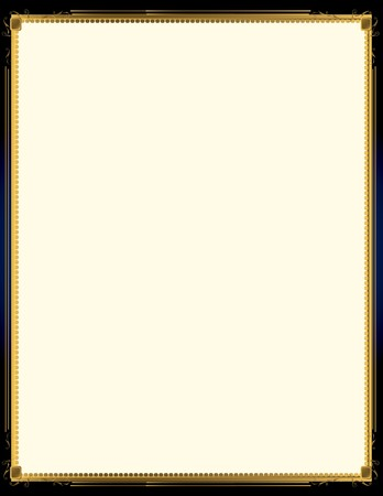 A blue background with and elegant blank frame design Illustration