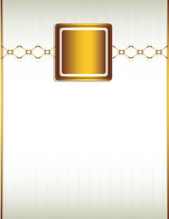 Crème achtergrond met een gouden ontwerp met inbegrip van keten-achtige elementen