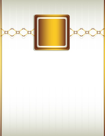 Cream background with a gold design including chain-like elements Illustration