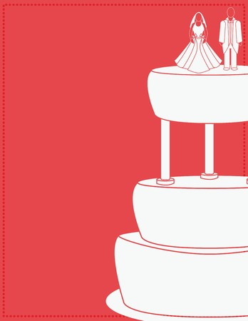 Wedding background for a couple on a cake