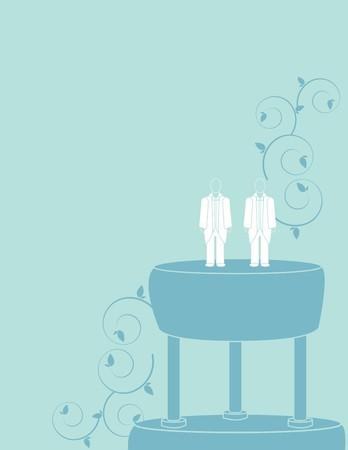 hombres gays: Fondo de boda para un par hombre en trajes