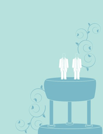 Wedding background for a male couple in suits Vector