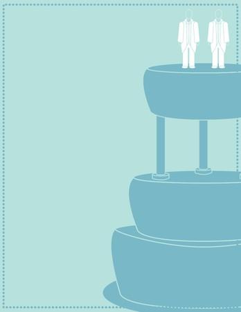 Arrière-plan de mariage pour un couple masculin en combinaisons  Banque d'images - 7315121