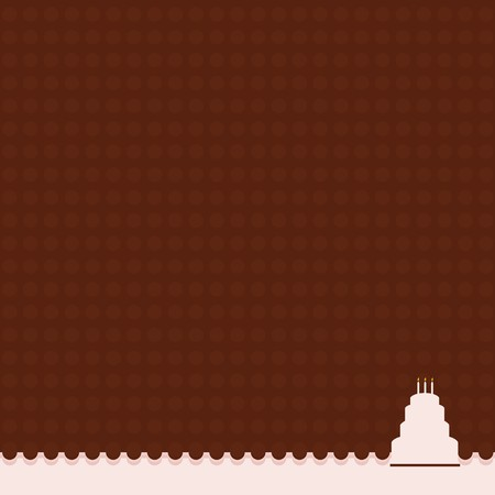 Dot background in brown with a four tier pink cake
