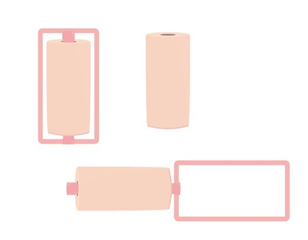 Pink hair curlers on a white background Illustration