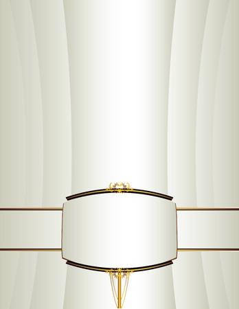 Background with a gold and black frame and band on lower portion