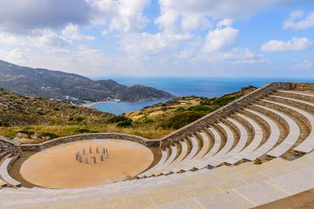 amphitheatre: The ancient amphitheatre, IOS island, Cyclades, Greece.