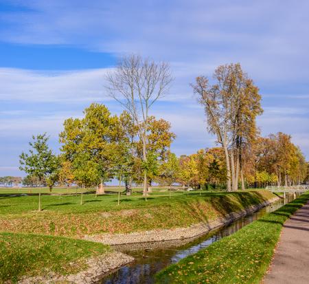 petergof: Beautiful Park at autumn, Park Alexandria, Petergof, Saint-Petersburg, Russia.