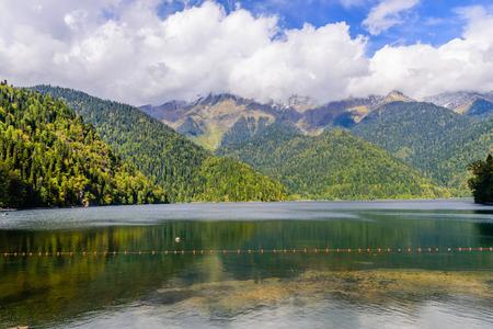 abkhazia: Mountain lake Ritsa, Abkhazia.