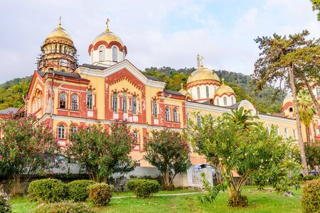 abkhazia: new Athos monastery of St. Simon the Canaanite monastery is a male monastery situated at the foot of mount Athos in Abkhazia, New Athos, Abkhazia.