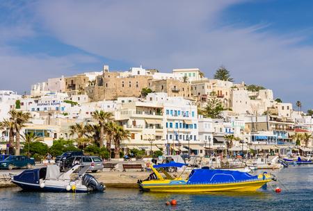 naxos: Naxos, Greece - JUNE 2: Naxos old town in JUNE 2, 2015, Naxos island, Cyclades, Greece.
