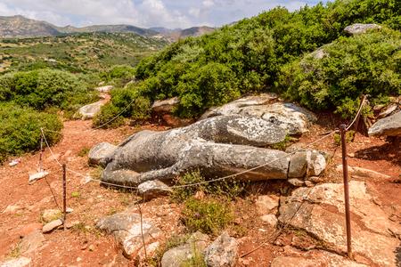 arte greca: Marmo Kouros è il tipo della statua, un campione di arte antica greca, Grecia. Archivio Fotografico