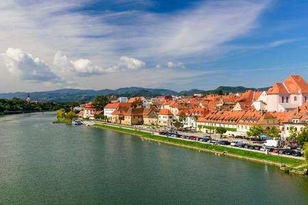 Maribor old town view, Slovenia.