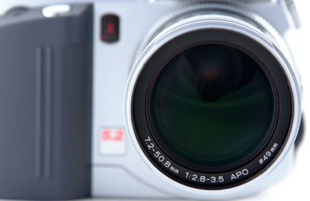 Close up of lens on digital camera