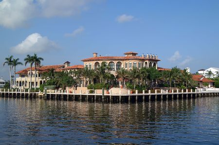 Ft Lauderdale, florida. Waterfront mansion