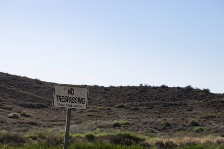 trespassing: no trespassing landscape