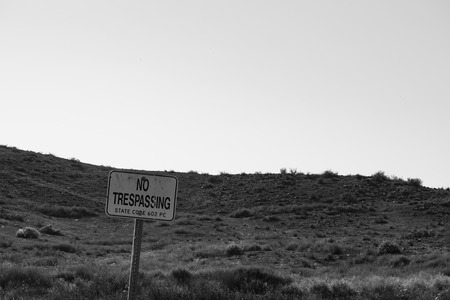 trespassing: no trespassing