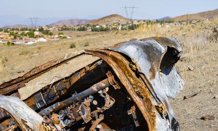 rusts: abandoned car