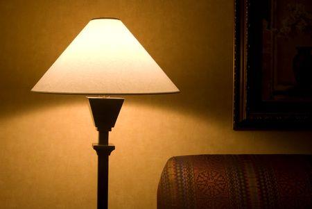 Avond Lamp Stockfoto