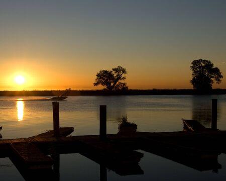 Sunrising over Delta in Northern California