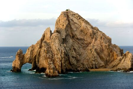 Arch at the tip of Baja California Stock Photo