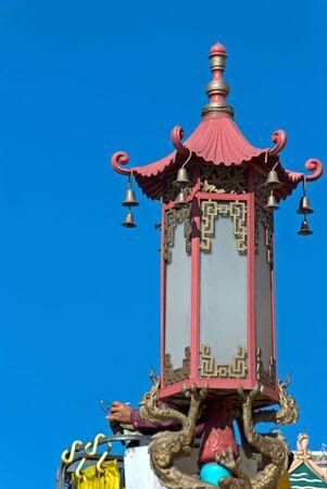 Straat lamp in Chinatown, San Francisco Californië  Stockfoto