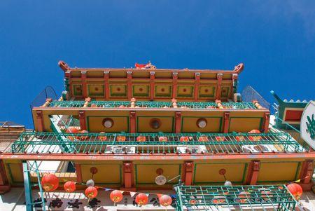 Decorative storefron in Chinatown San Francisco Stock Photo
