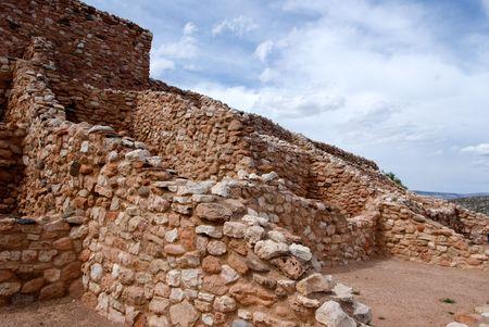 Tuzigoot Indian Ruins in Arizona Stock Photo