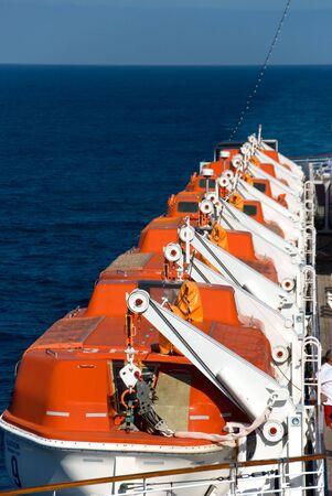 Emergency Boten op cruiseschip