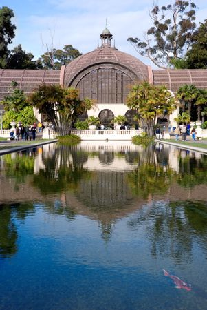 Botanical garden at Balboa Park in San Diego California photo