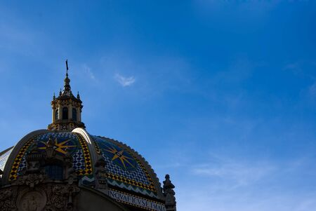 dome building: Dome building in Balboa Park at San Diego California Stock Photo
